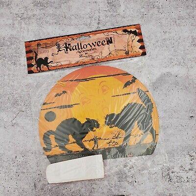 Bethany Lowe Halloween Paper Honeycomb Black Cat Moon Centerpiece