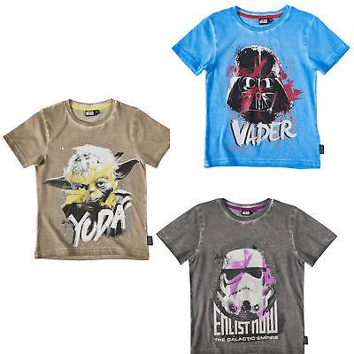 Star Wars Kinder Jungen kurzarm T-Shirt Gr. 116-152 Pullover Shirt kurzarm (Star Wars Kinder T Shirts)