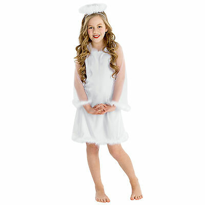 Engel Kostüm für Kinder Mädchen Engelskostüm Kleid Weihnachten - Engel Kostüm Mädchen