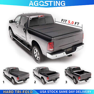 Hard Tri-Fold Tonneau Cover For 2016-2021 toyota tacoma Truck Bed 5 FT Truck Bed