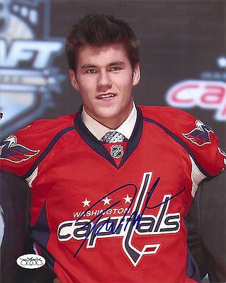Jsa Thomas Tom Wilson Signed Washington Capitals Draft 8X10 Photo