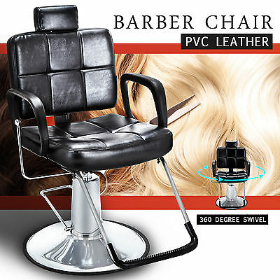 Reclining Hydraulic Barber Chair Salon Beauty Spa Shampoo Styling Equipment