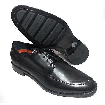 1109bd2c837 Cole Haan Men Size 10 Black Leather Shoes LENOX HILL SPLIT OX Apron Split  Toe