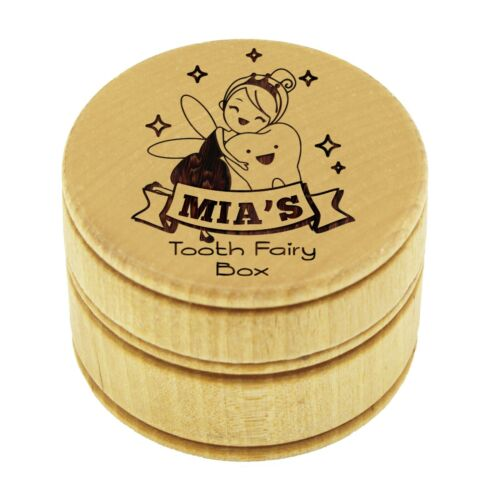 Personalized Wood Tooth Fairy Keepsake Box for Kids