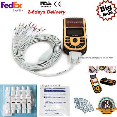 Contec Ecg80a Portable Hand-held Single Channel Ecg Ekg Machine Softwareusa Hot