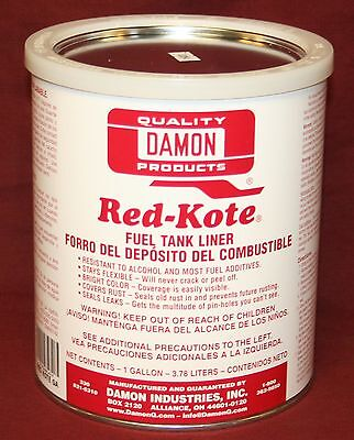 Red Kote Gallon Coat Gas Oil Diesel Fuel Tank Sealer Liner Patch Hit Miss Engine