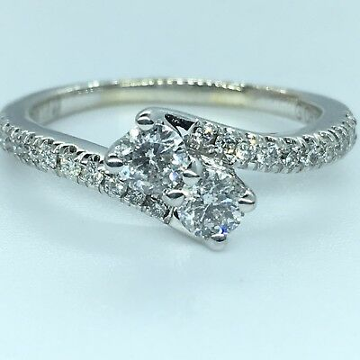 Ever Us 14K WHITE GOLD 0.60 CT DIAMOND Ring Best Friend True Love