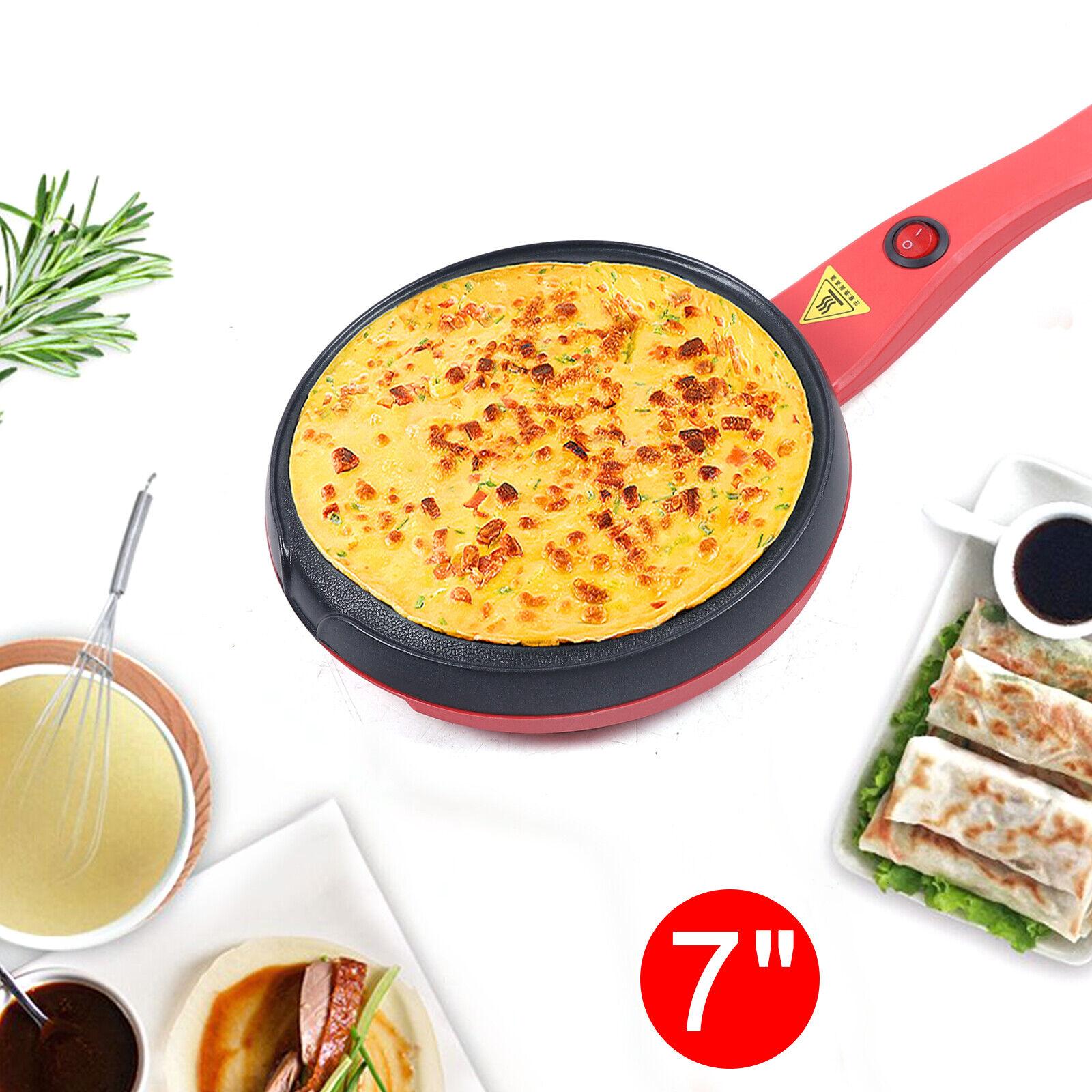 7 inch Electric Crepe Maker Non-Stick Pancake Baking Pan Fry