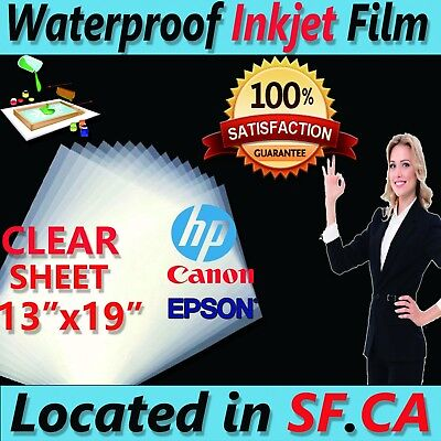 13x19100 Sheetspremium Waterproof Inkjet Fast-dry Milk Transparency Film