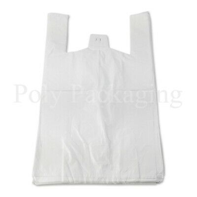 1000 x WHITE VEST CARRIER BAGS 10x15x18