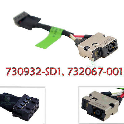 (AC DC POWER JACK HARNESS SOCKET FOR HP Pavilion 730932-YD1 730932-TD1 15-n019wm)