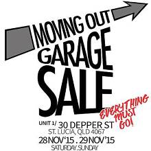 HUGE Moving Out GARAGE SALE! All must GO! LOW Prices! St Lucia Brisbane South West Preview