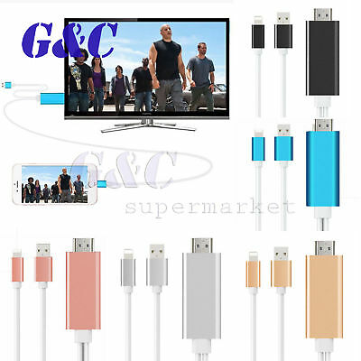 8 Pin Lightning to HDMI TV AV Adapter Cable for Android iPad iPhone 6S 7 Plus