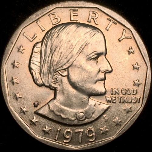 RARE WIDE RIM NEAR DATE 1979-P Susan B Anthony Dollar