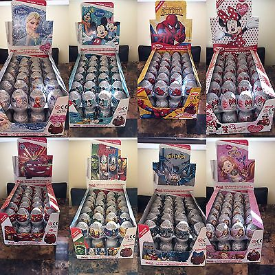 Disney Chocolate Zaini 6 Surprise Eggs With 3D Toy  Mix Match Any Theme