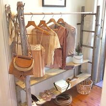 Vintage Shabby Chic Timber Shop Display / Clothes Shoe Rack Mosman Mosman Area Preview