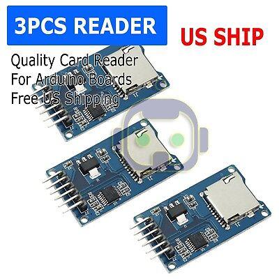 3x Micro Sd Sdhc Shield Tf Card Memory Reader Shield Module 6 Pin Spi Arduino