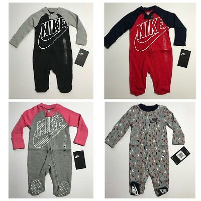 Nike Futura Infant Footed Coverall Sleeper Romper Newborn 3M 6M 9M