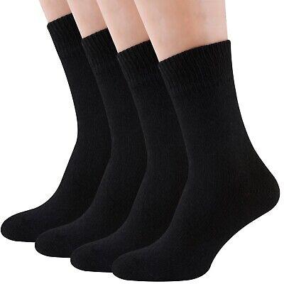 Air Wool Socks Black, Merino Wool Organic Cotton Thermal Heated Dress Sox, 2pair Organic Cotton Dress Socks