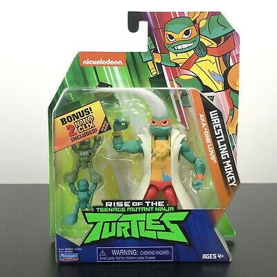 Wrestling Mikey Rise Of The TMNT Action Figure Playmates Toys - NEW