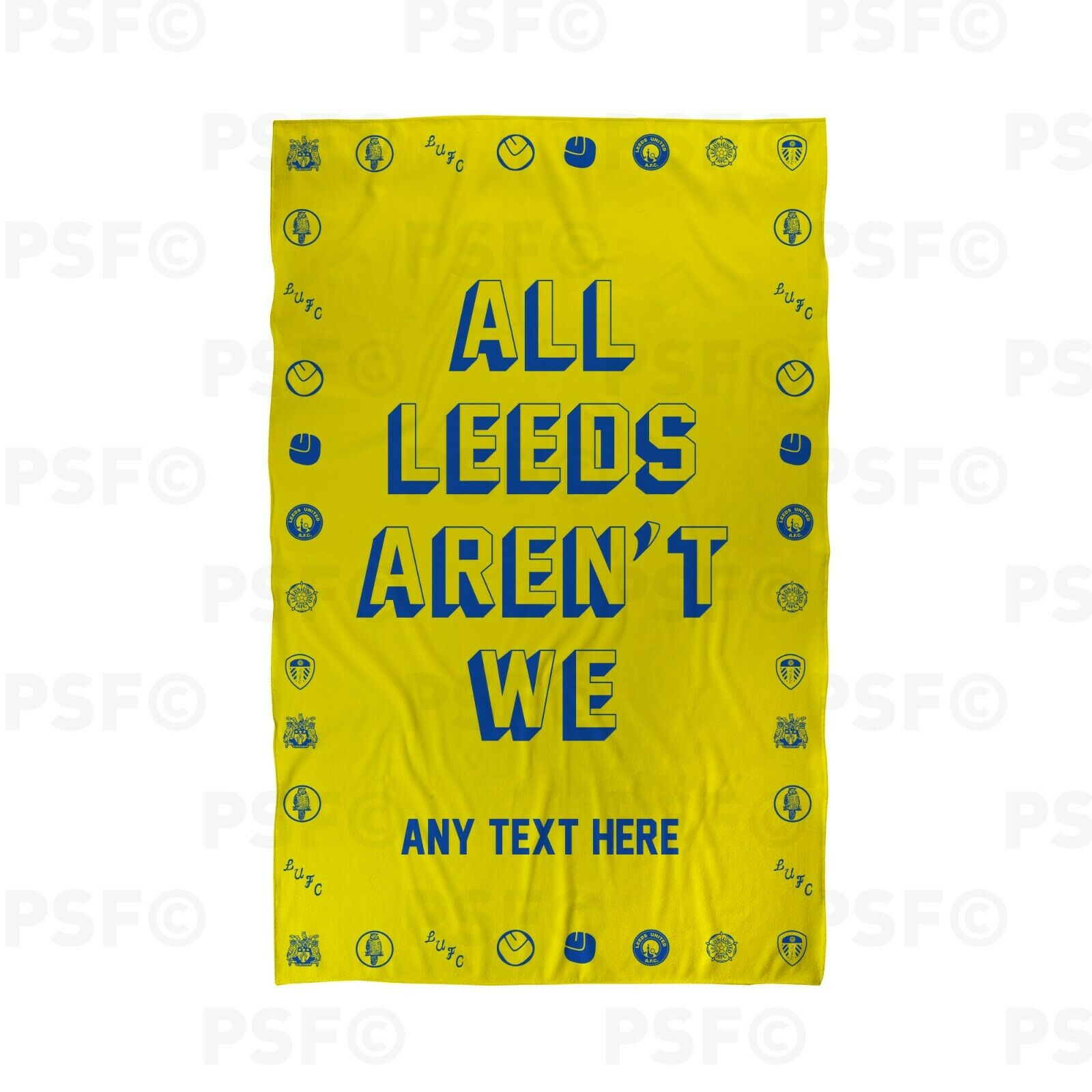 Details about leeds united fc official custom all leeds arent we yellow beach towel lbt024