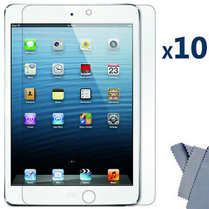 10 X Ultra Clear Screen Protector Guard Cover for Apple iPad Mini 16GB 32GB 64GB