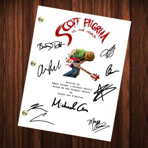 Scott Pilgrim vs. the World Autographed Signed Movie Script Reprint Autograph
