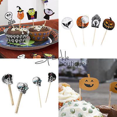 HALLOWEEN CAKE PICKS - Cupcake/Canape/Food Sticks - Party Decoration -4 Designs!](Halloween Parties Food)