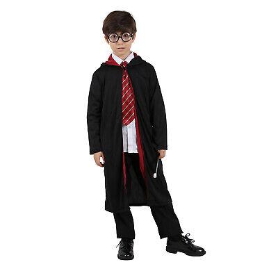 Boys Harry Potter Cape Hogwarts Cosplay Kids Costume Robe Cloak Tie Glass Wand - Boys Harry Potter Costume