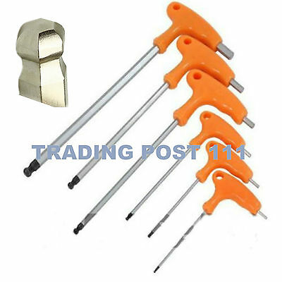 Neilsen Ball End Hex Key Allen Metric Long Reach 2,2.5,3,5,6,&8mm T-Bar   25A