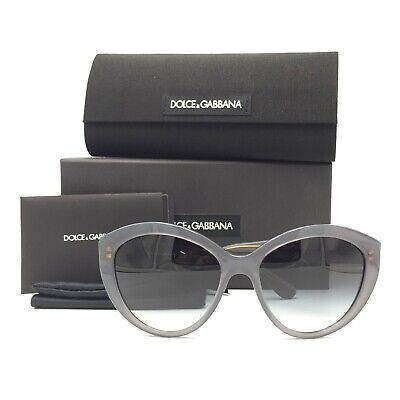 New Dolce&Gabbana DG4239 2915/8G Cat Eyes Grey Sunglasses W/ Grey Gradient (Dg Womens Sunglasses)
