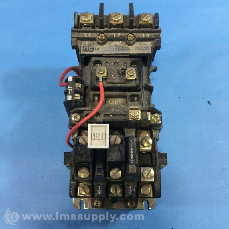 Allen Bradley 509-B0D  Electric Motor Starter 0072