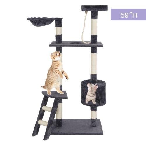 Cat Tree Tower Condo Scratcher Furniture Kitten Pet Play House