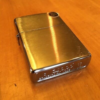 Genuine Zippo 200 brushed chrome windproof Lighter CASE ONLY