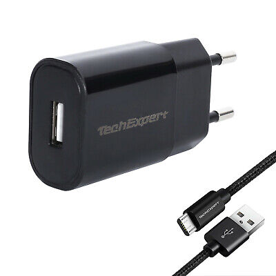 Cargador Y Cable Smartphone Samsung Galaxy A10 Negro