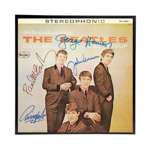 The Beatles Autographed hand signed Replica reprint album cover, Frame included