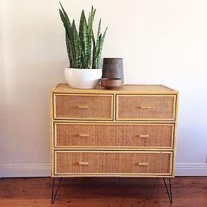 Hampton's, Chinoiserie style retro Dresser, Tallboy, chest of drawers. Mosman Mosman Area Preview