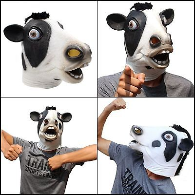 Latex Cow Head Farm Animal Halloween Costume Party Prop Cosplay Carnival Mask