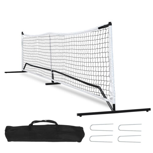 Portable Pickleball Game Tennis Net Powder Coated Frame Yard w/ Carry Bag&Stakes Other Tennis & Racquet Sports