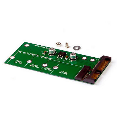 M.2 NGFF  MSATA 2-in-1 Multiple Sized SSD to SATA III 3 Adapter Converter Card