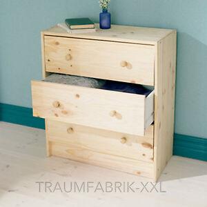 itm Bois massif Commode avec  Tiroirs Pin Armoire Garde robe IKEA RAST NEUF