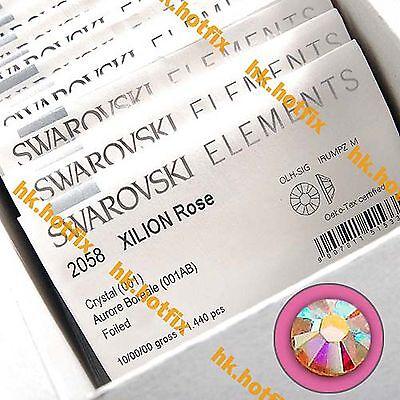 (Any Size / Qty.) Swarovski AB Crystal ( Hotfix / NO Hotfix) Flatback Rhinestone Ab Wholesale Swarovski Rhinestones