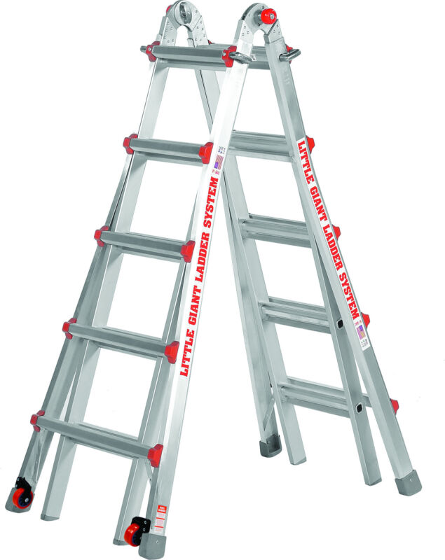 22 1A DEMO Little Giant Ladder w/ Platform & Wheels!