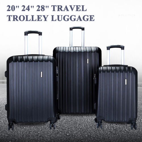 "20"" 24"" 28"" Set of 3 Luggage Set Travel Bag ABS Trolley Spin"