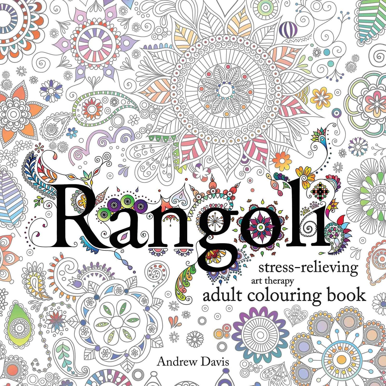 Art therapy coloring book and pencils - Rangoli Stress Relieving Art Therapy Adult