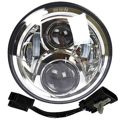"7"" LED Projector Daymaker Chrome Headlight Harley Street Glide Softail Gen 2"