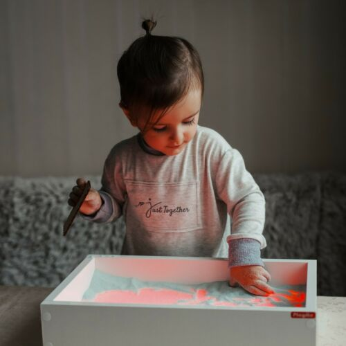 Mini Light table for sand drawing, sensory box, LED light box, sandbox