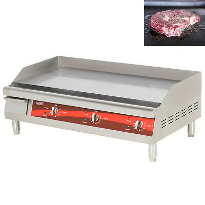 36 Avantco Electric Commercial Countertop Steel Flat Top Griddle Grill 240v