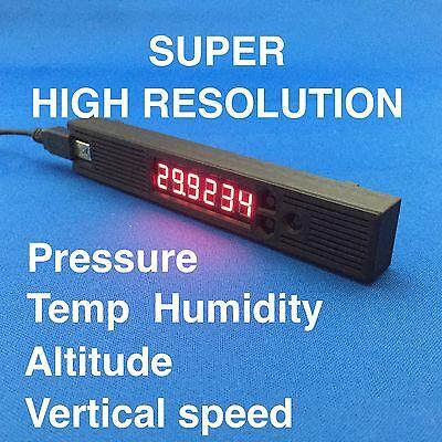0.01 High Resoultion Barometer Thermometer Hygrometer Altimeter red LED USB