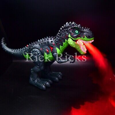 Light Up T-Rex Walking Dinosaur Kids LED Toy Figure With Sou
